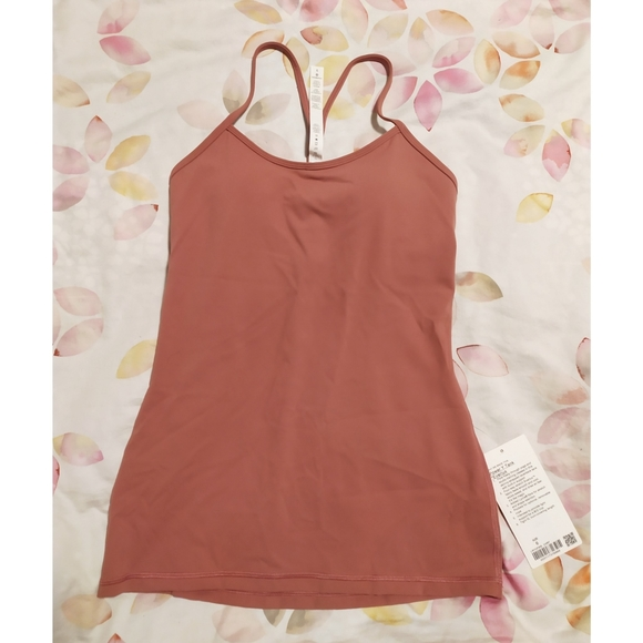 Lululemon Power Y Tank Everlux in Cherry Tint